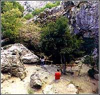 The cave on Mount Ida