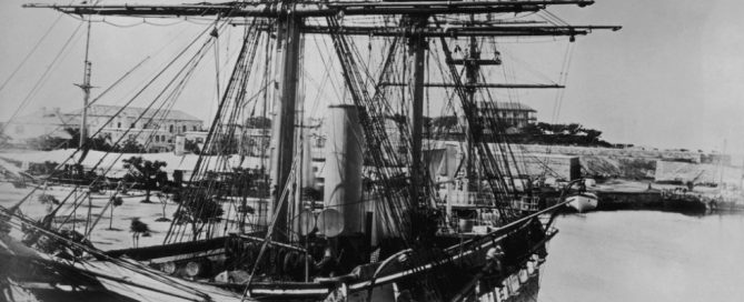 A British merchant ship in the Caribbean, in the 1860s