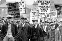 British coal miners on strike in 1926