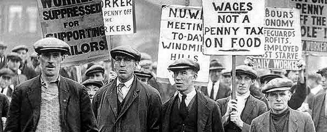 British coal miners on strike in 1926