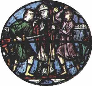The murder of Thomas a Becket in stained glass