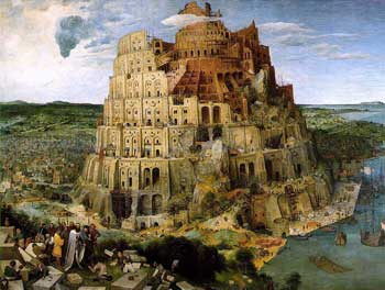 Breughel's medieval painting of the Tower of Babel