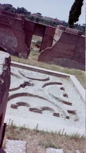 Domus Flavia: Looking down into the third, private, courtyard