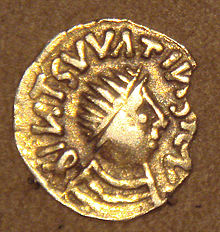 A Frankish gold coin copying a Byzantine coin - who were the Franks?