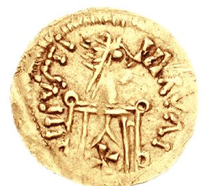 Gold coin of King Leovigild
