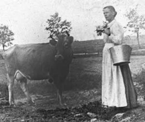 Indentured servant Nanny Hull, working on Quaintance farm in Kentucky in the 1800s