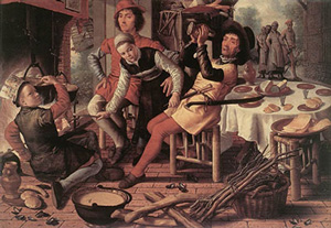 Peasants at the Hearth, by Pieter Aertsen (ca. 1550 AD)