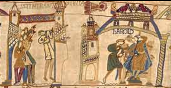 Harold and other English people see Halley's comet in 1066 AD.