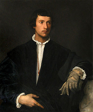 Titian's Man with a Glove (1520), now in the Louvre in Paris