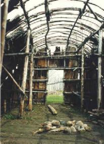 Abandoned Iroquois longhouse