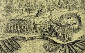 Battle between the Algonquins and the Iroquois, 1609