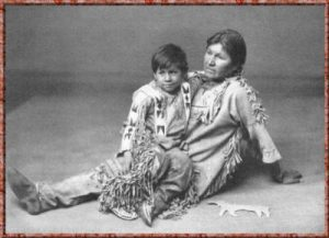 Algonquin child and mother (1800s)