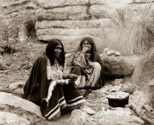 Apache people cooking, 1857