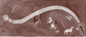 Apache rock painting, ca. 1800 AD