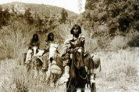 Apache women on horseback
