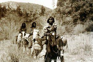 Apache women on horseback