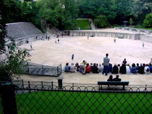 The Roman amphitheater in Paris, France - it's a small one.