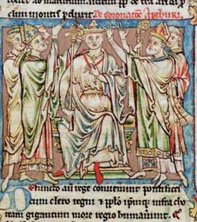 King Arthur (Flores Historiarum, 1200s AD)