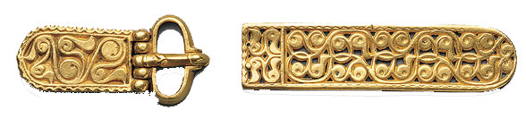 Gold pieces of an Avar belt