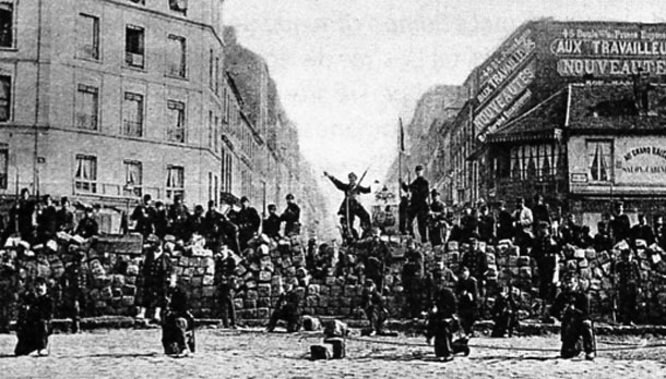 A barricade put up by the Commune (1871)