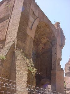 Baths of Caracalla - the caldarium or hot tub