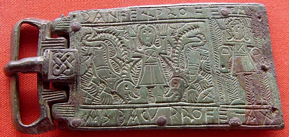 Early Medieval (Merovingian) belt-buckle made out of bronze