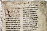 Rule of St. Benedict: parchment with Latin writing on it.