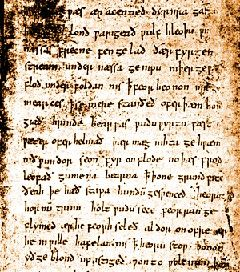 The only surviving manuscript of Beowulf