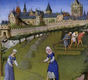 Medieval peasant clothing, from the Très Riches Heures du Duc de Berry (1400s AD)