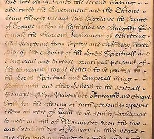 Beginning of the Bill of Rights