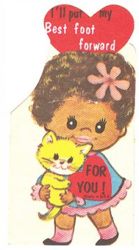 A kids' valentine from the 1970s