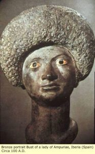 Is she a black woman? A bronze carving from Roman Spain, about 100 AD.