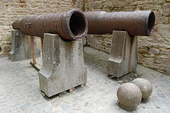 British cannon from the Hundred Years' War (now at Mount St. Michel)