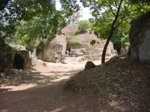 A street in an Etruscan cemetery