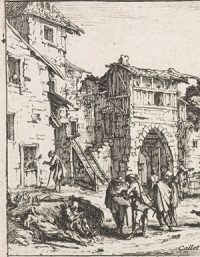 People dying in a ruined town (Jacques Callot, 1633)