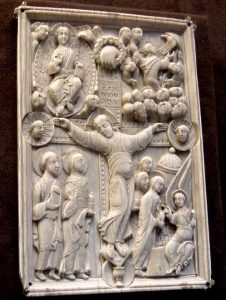 A Late Antique ivory carving