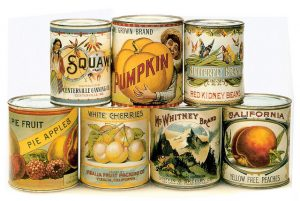 Canned food from the early 1900s