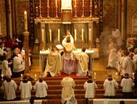 Catholic priests celebrating Mass
