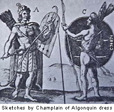 Algonquin men about 1530 AD