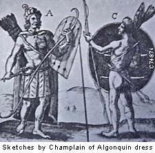 Algonquin men about 1530 AD
