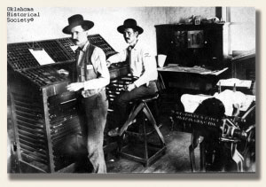 The printing press of the Cherokee Advocate in the 1800s