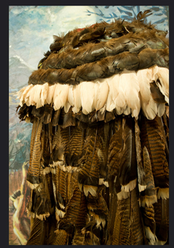 Cherokee feather cloak (Now in Museum of the Cherokee Indian)