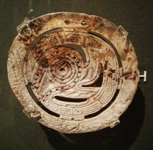 Cherokee carved plate (ca. 1000 AD)