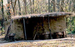 Replica of Cherokee summer house