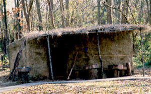 Replica of Cherokee summer house