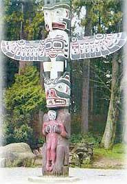 Chinook Thunderbird totem pole