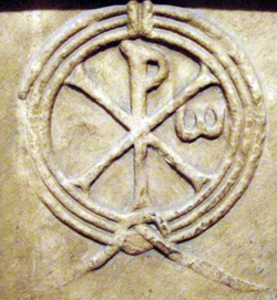 A chi-rho symbol from the Cluny Museum in Paris