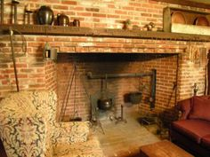 A fireplace from Colonial times