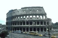 The Colosseum - the Flavian Amphitheater - in Rome, Italy. Built about 70 AD
