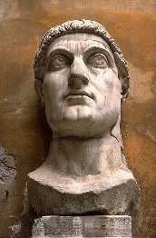 Constantine: marble head of a beardless man